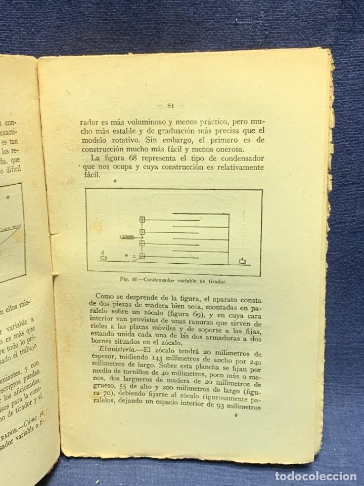 Libros antiguos: LA RADIOTELEFONIA PRACTICA AMADOR RODRIGUEZ GUERRA MADRID 1924 ED MARINEDA 19X13CMS - Foto 10 - 283768408