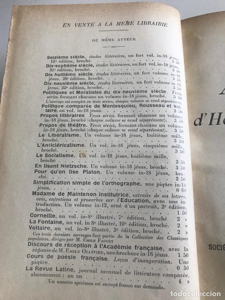 Libros antiguos: Emile Faguet.Amours l'orme du mail.19x12cm.editado en francés - Foto 8 - 283830513