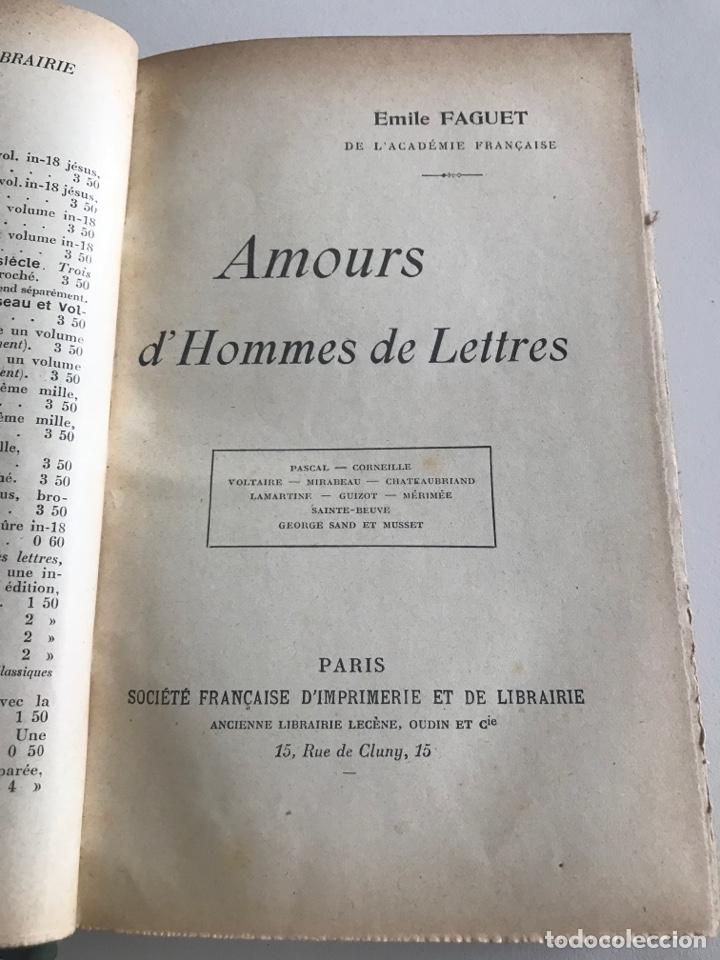Libros antiguos: Emile Faguet.Amours l'orme du mail.19x12cm.editado en francés - Foto 9 - 283830513