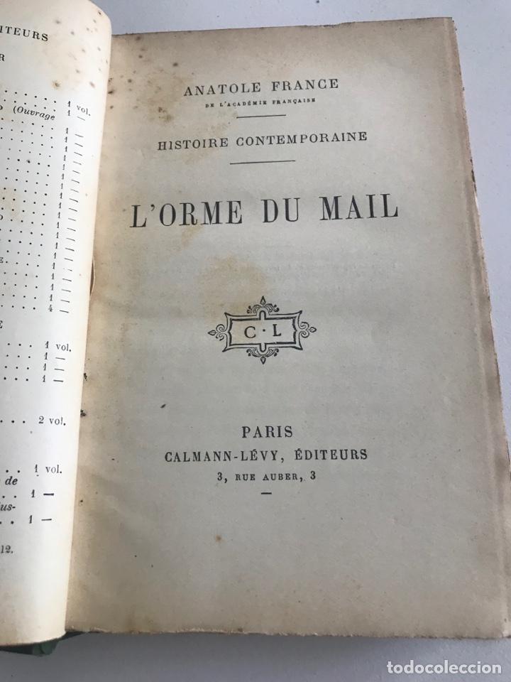 Libros antiguos: Historie contemporaine l'orme du mail.19x12cm.editado en francés - Foto 9 - 283831733