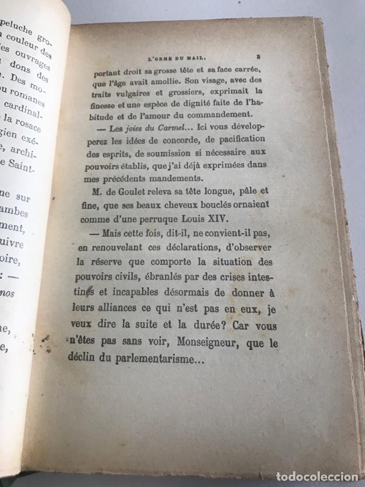 Libros antiguos: Historie contemporaine l'orme du mail.19x12cm.editado en francés - Foto 12 - 283831733