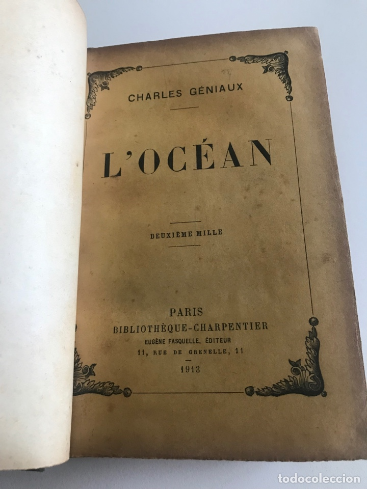 Libros antiguos: Charles Geniaux L'ocean 19x12cm editado en francés - Foto 6 - 283832288