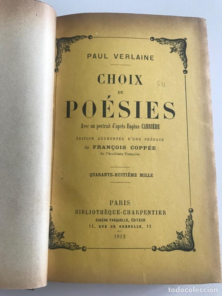 Libros antiguos: O.Verlaine.Choix de Poesies.1912.19x12cm editado en francés - Foto 4 - 283832678