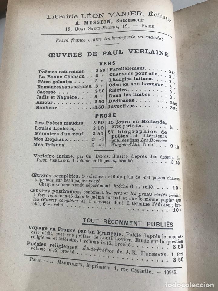 Libros antiguos: O.Verlaine.Choix de Poesies.1912.19x12cm editado en francés - Foto 6 - 283832678