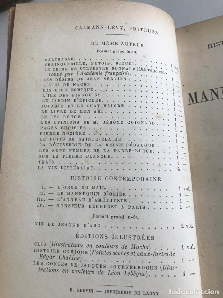 Libros antiguos: A.France.Le mannequin d'osier.19x12cm editado en francés - Foto 6 - 283833033