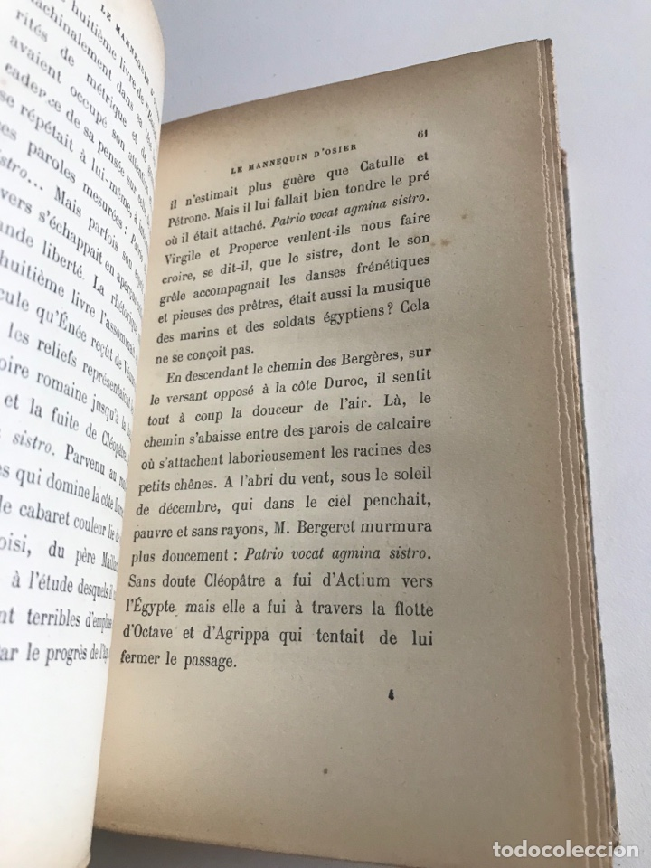Libros antiguos: A.France.Le mannequin d'osier.19x12cm editado en francés - Foto 9 - 283833033