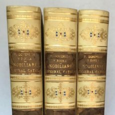 Livres anciens: NOBILIARI GENERAL CATALÁ DE LLINATGES. CATALUNYA, VALENCIA, MALLORCA, ROSSELLÓ.- DOMENECH Y ROURA.... Lote 284582943
