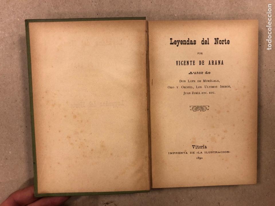 Libros antiguos: LEYENDAS DEL NORTE. VICENTE DE ARANA. IMPRENTA DE LA ILUSTRACIÓN 1890. - Foto 2 - 284660188