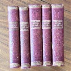 Livres anciens: HISTORIA DE ESPAÑA EN EL SIGLO XIX. PI Y MARGALL. 5 TOMOS. Lote 284685958