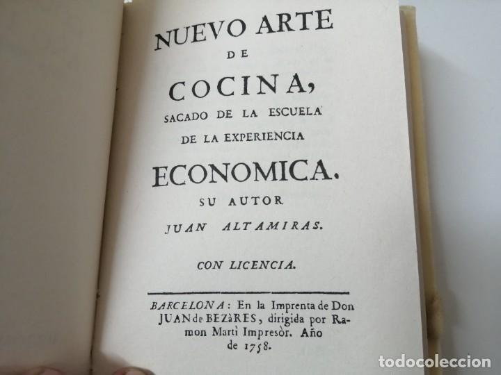 Libros antiguos: NUEVO ARTE DE COCINA JUAN ALTAMIRAS FACSIMIL 1858 FACSIMIL CORCHO - Foto 5 - 285151053
