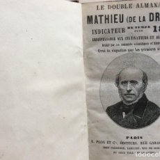 Libros antiguos: LE DOUBLE ALMANACH ( DE LA DRÔME ) INDICATEUR DU TEMPS POUR 1874. ILUSTR.. Lote 285261143