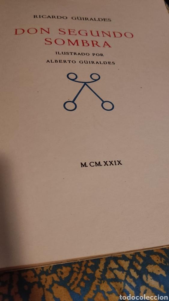 Libros antiguos: Don segundo Sombra de Ricardo Güiraldes - Foto 7 - 285331238