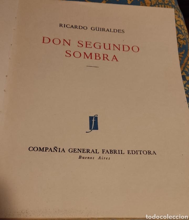Libros antiguos: Don segundo Sombra de Ricardo Güiraldes - Foto 2 - 285331238