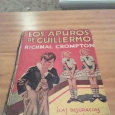 Libros antiguos: LOS APUROS DE GUILLERMO.RICHMAL CROMPTON.EDIT.MOLINO.1936.304 PAG.. Lote 285354048