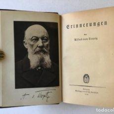 Libros antiguos: ERINNERUNGEN. - TIRPITZ, ALFRED VON.. Lote 285410598