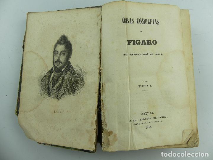OBRAS COMPLETAS DE FIGARO POR MARIANO JOSE DE LARRA (Libros Antiguos, Raros y Curiosos - Literatura - Otros)