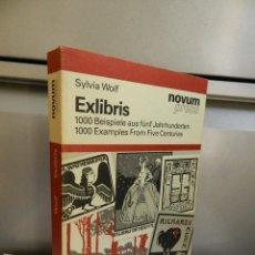 Libros antiguos: EXLIBRIS, 1000 BEISPIELE AUS FÜNF JAHRHUNDERTEN, SYLVIA WOLF NOVUM PRESS 1985. Lote 285996713