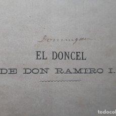 Libros antiguos: EL DONCEL DE DON RAMIRO I EL POZO DE LA LLORONA RAREZA. Lote 286002818