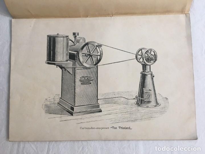 Libros antiguos: Van Vriesland. El Aerógeno. Gas obtenido por el carburador compresor. Madrid. Fortanet. 1900 - Foto 3 - 286352953