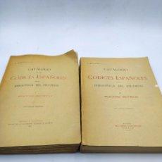 Libros antiguos: CATÁLOGO DE LOS CÓDICES ESPAÑOLES DE LA BIBLIOTECA DEL ESCORIAL REL. HISTÓRICAS. P. MIGUELEZ 1917/25. Lote 286455983