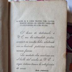 Livros antigos: CÓDIGO JUSTICIA MILITAR EN CUBA. 1890.. Lote 286613078