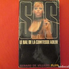 Libros antiguos: LE BAL DE LA COMTESSE ADLER GERARD DE VILLIERS. Lote 286766358