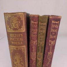 Libros antiguos: MILTON'S POETICAL WORKS 1843 Y LOVE POEMA OFRECER ROBERT BROWNING, W. S. BLUNT Y SHELLEY. Lote 286808633