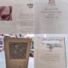 Libros antiguos: XV SONETOS DE RAFAEL SÁNCHEZ MAZAS PARA XV ESCULTURAS DE MOISÉS DE HUERTA ED. LUJO 1917 FIRMADO. Lote 286811558