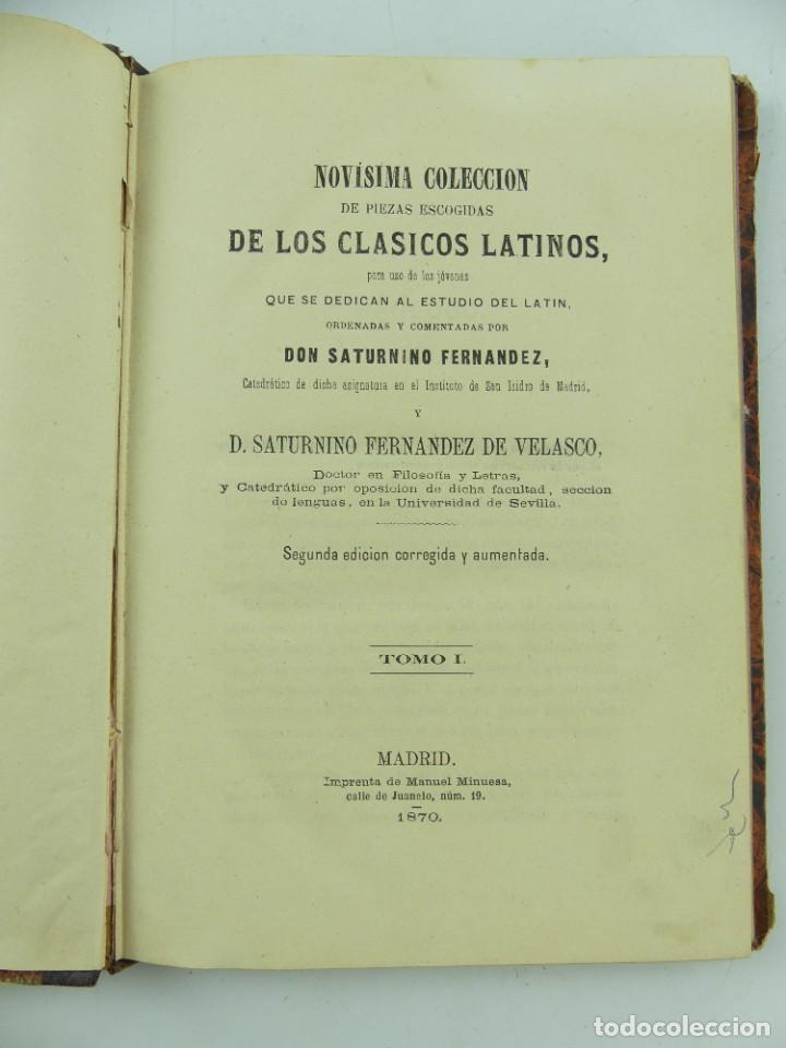 NOVISIMA COLECCION DE LOS CLASICOS LATINOS TOMO I - 1870 (Libros Antiguos, Raros y Curiosos - Literatura - Otros)