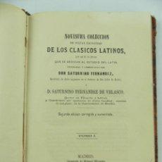 Libros antiguos: NOVISIMA COLECCION DE LOS CLASICOS LATINOS TOMO I - 1870. Lote 286828008