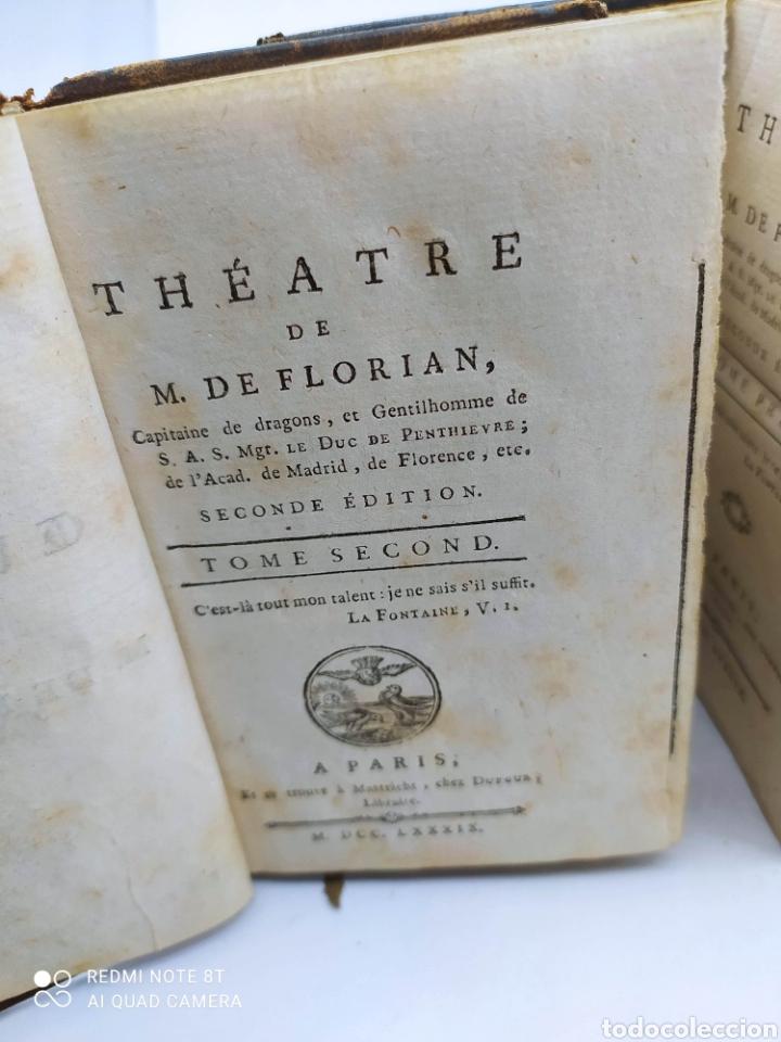 Libros antiguos: M. De Florian. Theatre(1789) 1 y 2 y Fables (1793) - Foto 4 - 286856473