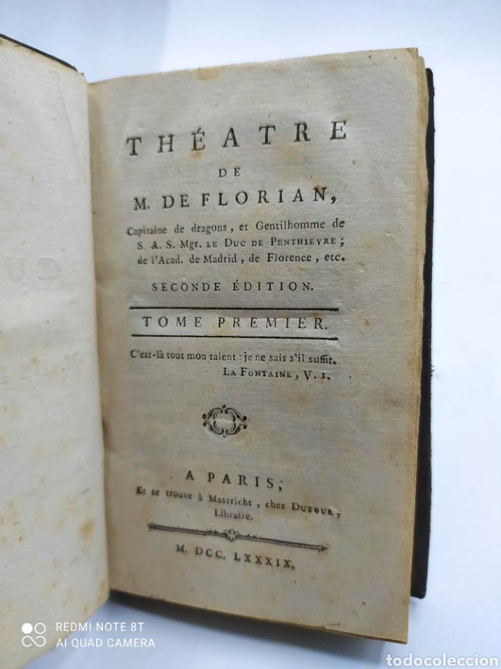 Libros antiguos: M. De Florian. Theatre(1789) 1 y 2 y Fables (1793) - Foto 5 - 286856473