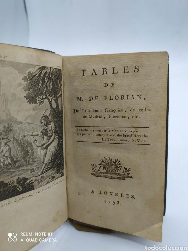 Libros antiguos: M. De Florian. Theatre(1789) 1 y 2 y Fables (1793) - Foto 6 - 286856473
