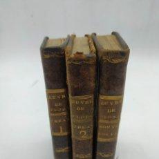 Libros antiguos: M. DE FLORIAN. THEATRE(1789) 1 Y 2 Y FABLES (1793). Lote 286856473