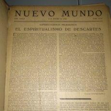 Libros antiguos: ENCUADERNACION REVISTA NUEVO MUNDO. Lote 286888258