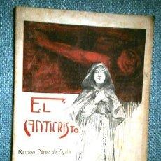 Livres anciens: EL ANTICRISTO POR RAMÓN PÉREZ DE AYALA / REVISTA LITERARIA EL LIBRO POPULAR EN MADRID 1914. Lote 287165743