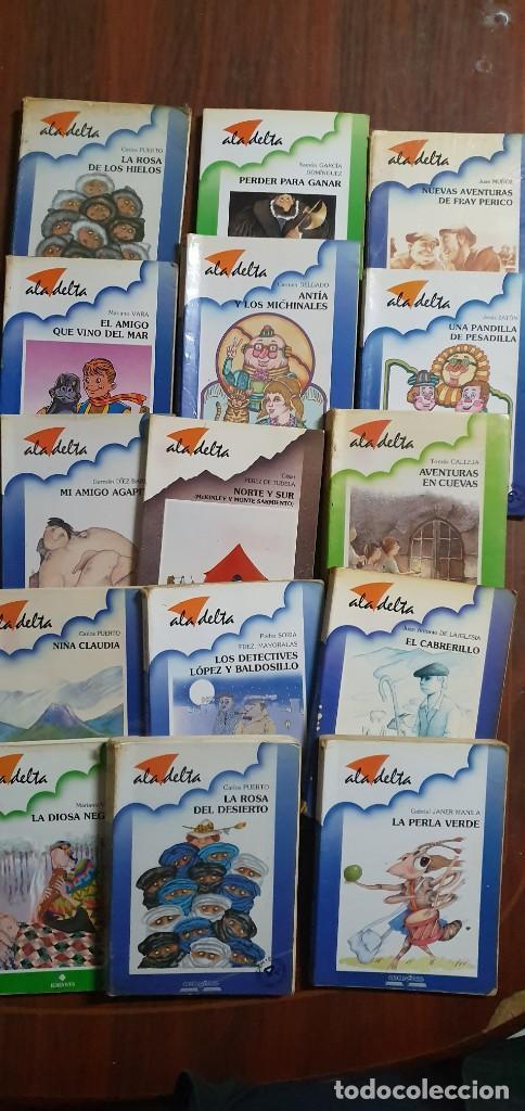 LOTE DE 15 LIBROS ALA DELTA TODOS EN UN ESTADO NORMAL MAS ARTICULOS (Libros Antiguos, Raros y Curiosos - Literatura Infantil y Juvenil - Otros)