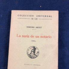 Libros antiguos: LA NARIZ DE UN NOTARIO. Lote 287681148