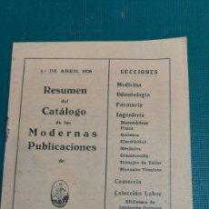 Libros antiguos: 1928 CATALIGO PUBLICACIONES EDITORIAL LABOR 15 PÁGINAS. Lote 287684623