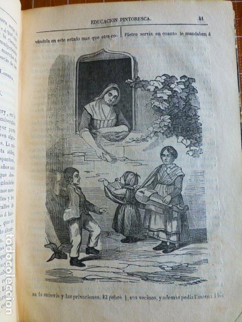 Libros antiguos: EDUCACIÓN PINTORESCA PARA NIÑOS TOMÓ I MADRID IMPRENTA DE MIGUEL CAMPO REDONDO 1857 - Foto 4 - 287721598
