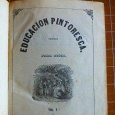 Libros antiguos: EDUCACIÓN PINTORESCA PARA NIÑOS TOMÓ I MADRID IMPRENTA DE MIGUEL CAMPO REDONDO 1857. Lote 287721598