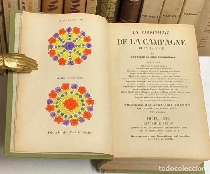 Libros antiguos: AÑO 1899 - LA CUISINIERE DE LA CAMPAGNE ET DE LA VILLE COUSINE ECONOMIQUE POR AUDOT - COCINA LIBRO - Foto 2 - 287757493