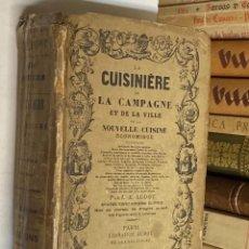 Libros antiguos: AÑO 1908 - LA CUISINIERE DE LA CAMPAGNE OU NOUVELLE COUSINE ECONOMIQUE POR AUDOT - COCINA. Lote 78978858