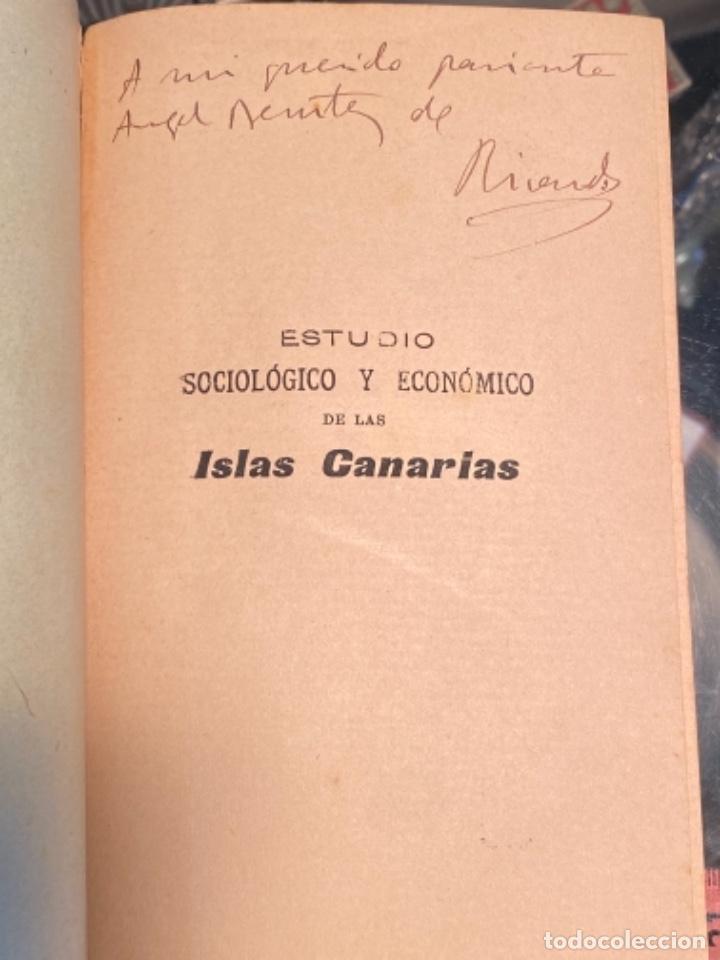 Libros antiguos: Estudio sociologico y economico de las islas canarias, de ruiz benitez de lugo (1904) - Foto 3 - 287788898