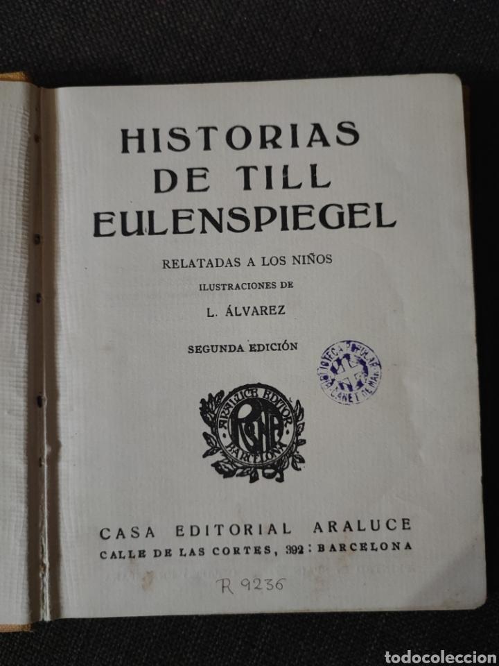 Libros antiguos: HISTORIAS DE TILL EULENSPIEGEL , EDITORIAL ARALUCE , REF 139 - Foto 4 - 287789908