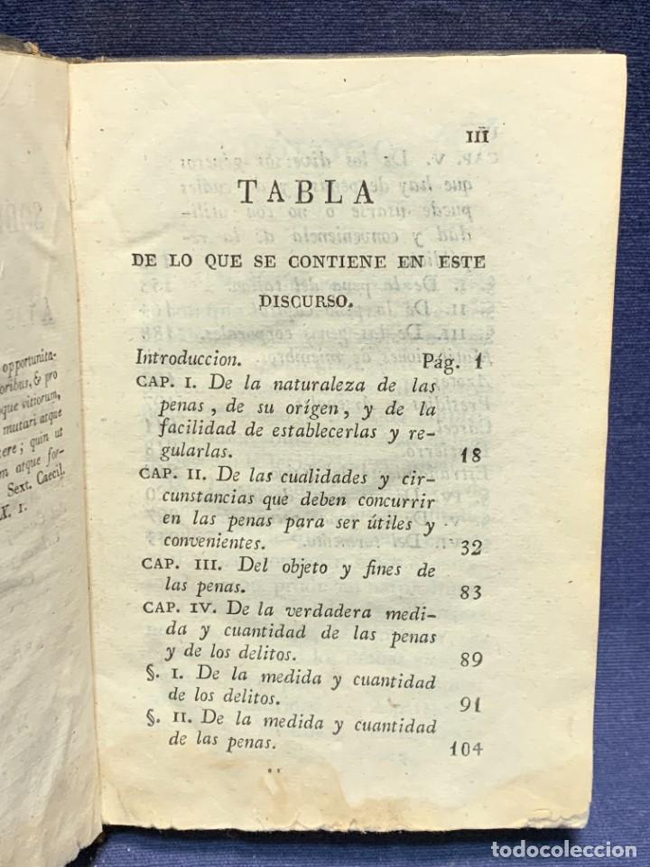 Libros antiguos: DISCURSO SOBRE LAS PENAS MANUEL DE LARDIZABAL Y URIBE 2ª EDICION 1828 15X10X3CMS - Foto 3 - 287916708