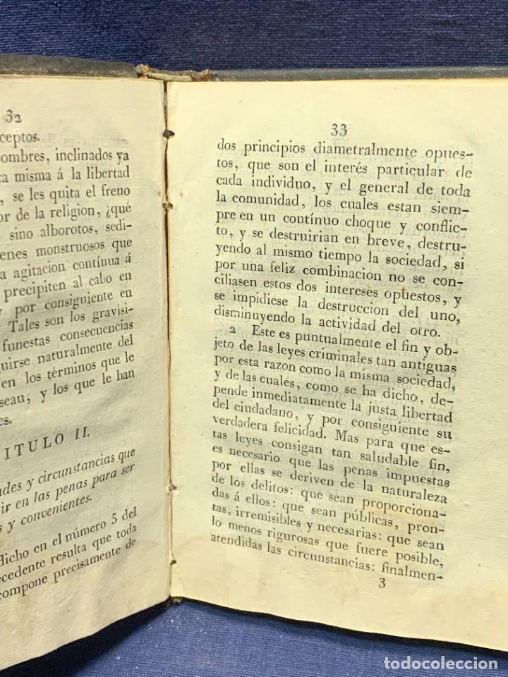 Libros antiguos: DISCURSO SOBRE LAS PENAS MANUEL DE LARDIZABAL Y URIBE 2ª EDICION 1828 15X10X3CMS - Foto 5 - 287916708