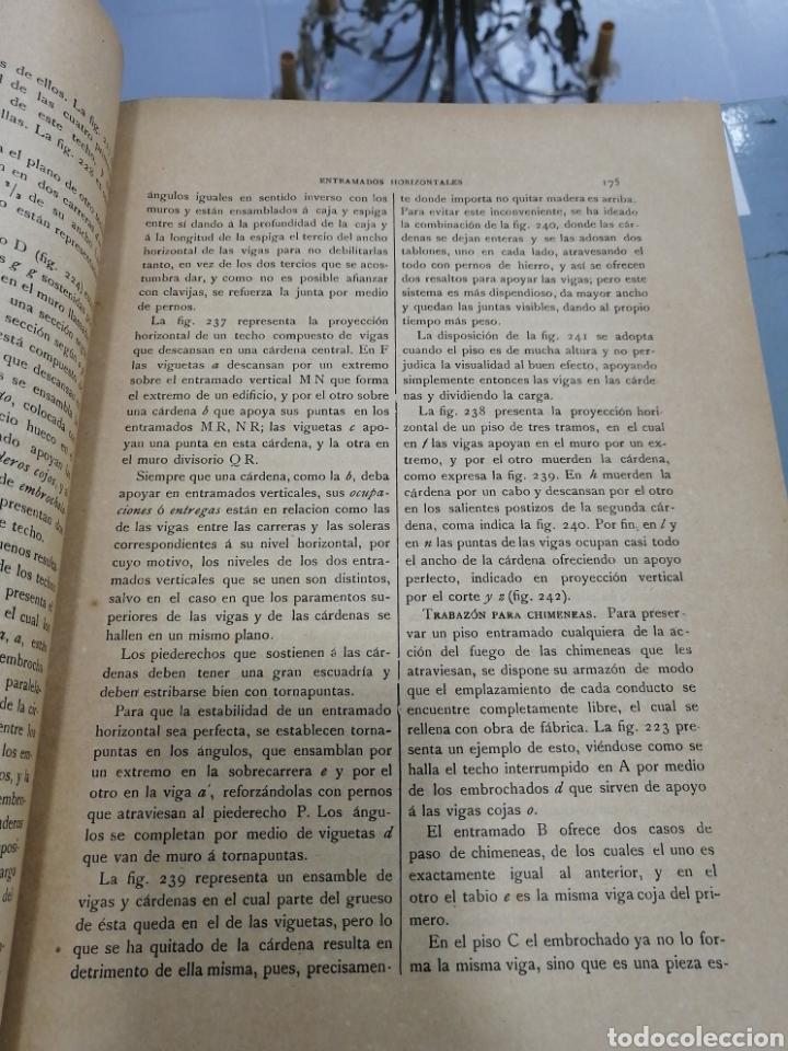 Libros antiguos: Tomos Carpinteria antigua y moderna 1893 - Foto 4 - 287930838