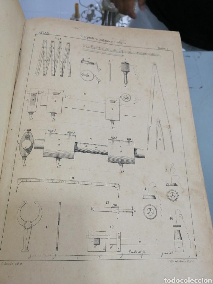 Libros antiguos: Tomos Carpinteria antigua y moderna 1893 - Foto 5 - 287930838