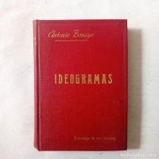 Libros antiguos: IDEOGRAMAS. ZOZAYA, ANTONIO. Lote 288003088